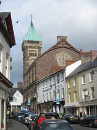 Abergavenny Town Hall, viewed from Cross Street