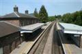 Abergavenny railway station from the footbridge
